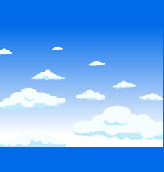 View from the window to the sky the clouds long vector