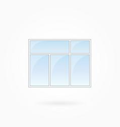 window frame eps 10 vector image