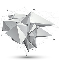 3d mesh modern stylish abstract object origami vector