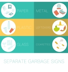Banner of separate garbage vector image