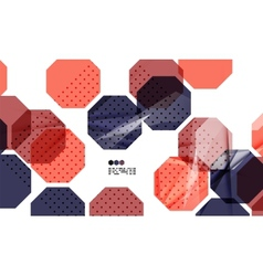 Bright colorful geometric modern design template vector image