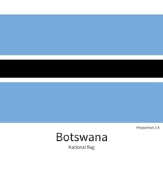 National flag of Botswana with correct proportions vector image