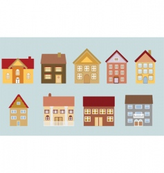 neighborhood set vector image vector image