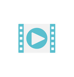 video marketing flat icon vector image vector image