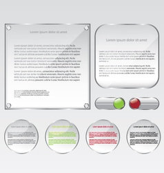 Glass web frame and buttons vector image vector image