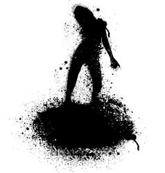 Ink blots silhouette vector image