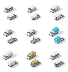 isometric vans set vector image
