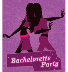 Poster for bachelorette party vector image