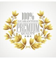 Premium quality golden laurel wreath vector image