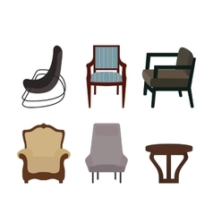 Set of Furniture Modern Flat style vector image