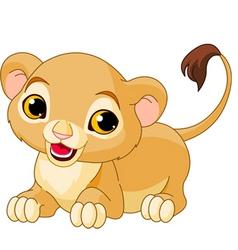 cartoon lion cub vector image vector image