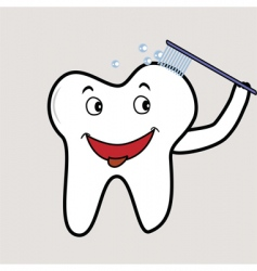 cheeky tooth vector image vector image