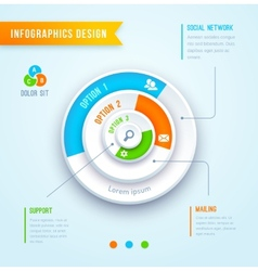 circle graph infographics vector image vector image