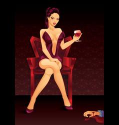 vampire lady vector image vector image