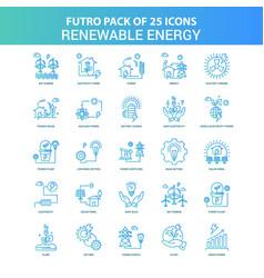 25 green and blue futuro renewable energy icon vector image