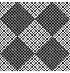 abstract black and white seamless square pattern vector image
