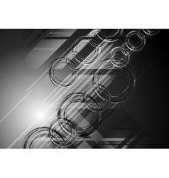 Abstract dark hi-tech background vector image