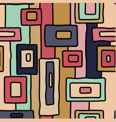 Abstract retro aboriginal seamless pattern vector
