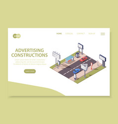 advertising constructions page vector image