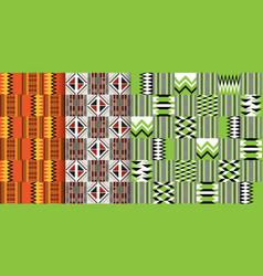 african ethnic seamless pattern geometric design vector image