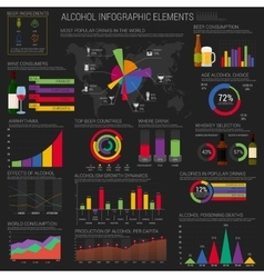 Alcohol infographic elements template or layout vector image