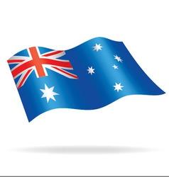 Australian flag waving vector