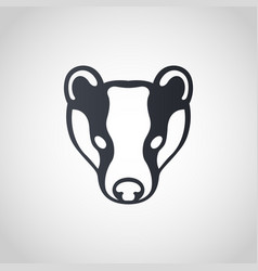 badger logo icon design vector image