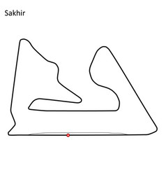 bahrain international circuit vector image
