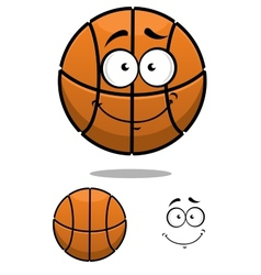 Basketball ball character with a cute face vector image