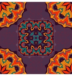 Bright color mandala ornament seamless background vector