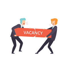 Businessmen fighting for a vacancy business vector