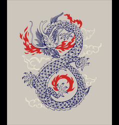 Chinese traditional dragon vector