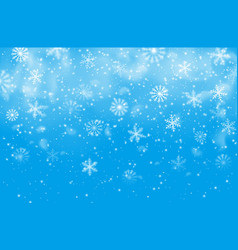 Christmas snowflakes blue background vector