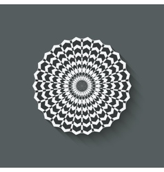 circular pattern design element vector image