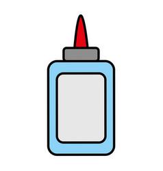 Color glue bottle school utensil style vector