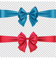 Colorful bows isolated on transparent background vector