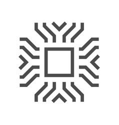 Computer chip icon vector