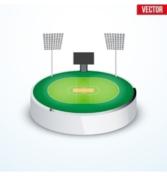 Concept of miniature round tabletop cricket vector image