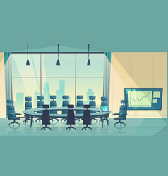 conference hall for business cartoon vector image