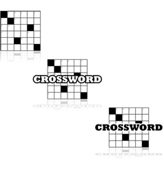 Crossword icons vector