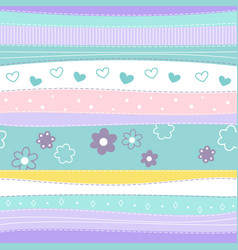 cute abstract seamless pattern vector image