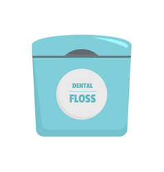 Dental floss box icon flat style vector