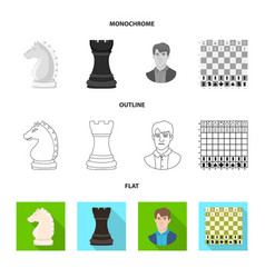design of checkmate and thin logo set of vector image
