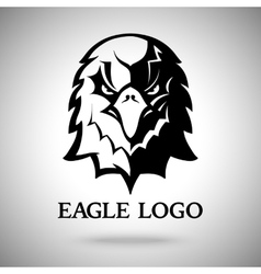 Eagle template for logo badge label etc vector image