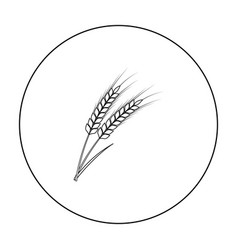 ears of wheat pasta icon in outline style isolated vector image