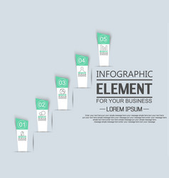 element for infographic template stiker number vector image