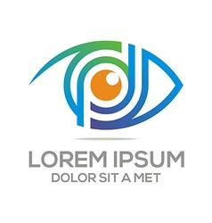 Eyes Logo Design Elegant Optic vector image