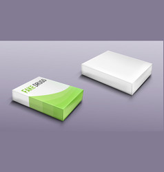 Fake drugs package set mockup carton blank box vector