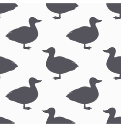 Farm bird silhouette seamless pattern Duck meat vector image