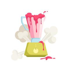 flat broken blender icon vector image